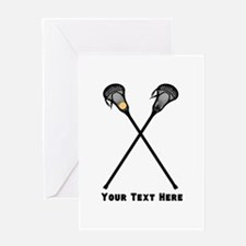 Lacrosse Player Customized Greeting Card