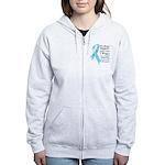 Prostate Cancer Ribbon Women's Zip Hoodie