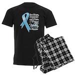 Prostate Cancer Ribbon Men's Dark Pajamas