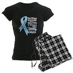 Prostate Cancer Ribbon Women's Dark Pajamas