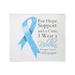 Prostate Cancer Ribbon Throw Blanket