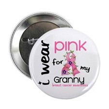 "I Wear Pink 43 Breast Cancer 2.25"" Button"
