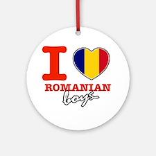 I love Romanian boys Ornament (Round)