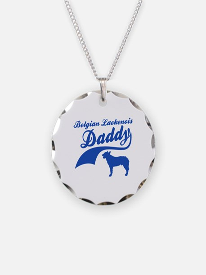 Belgian Laekenois Daddy Necklace Circle Charm