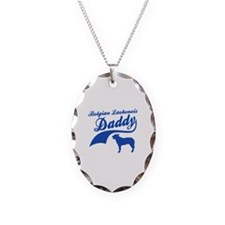 Belgian Laekenois Daddy Necklace Oval Charm