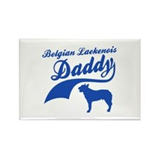 Belgian Laekenois Daddy Rectangle Magnet (10 pack)