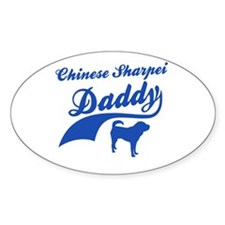 Chinese shar pie Daddy Decal