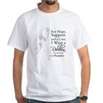 Mesothelioma Ribbon White T-Shirt