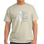 Mesothelioma Ribbon Light T-Shirt