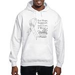 Mesothelioma Ribbon Hooded Sweatshirt
