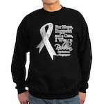 Mesothelioma Ribbon Sweatshirt (dark)