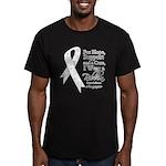 Mesothelioma Ribbon Men's Fitted T-Shirt (dark)