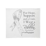 Mesothelioma Ribbon Throw Blanket