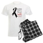 Melanoma Floral Ribbon Men's Light Pajamas