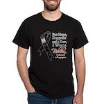 Melanoma Floral Ribbon Dark T-Shirt