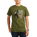 Melanoma Floral Ribbon Organic Men's T-Shirt (dark