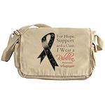 Melanoma Floral Ribbon Messenger Bag