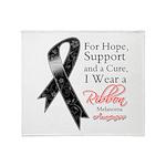 Melanoma Floral Ribbon Throw Blanket