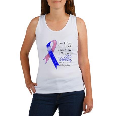 Male Breast Cancer Ribbon Women's Tank Top