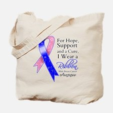 Male Breast Cancer Ribbon Tote Bag