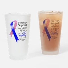 Male Breast Cancer Ribbon Drinking Glass