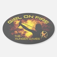 Girl on Fire Decal