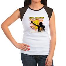 Girl on Fire Women's Cap Sleeve T-Shirt