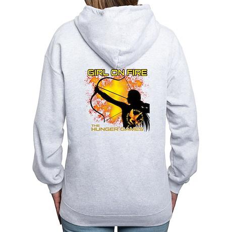 Girl on Fire Women's Zip Hoodie