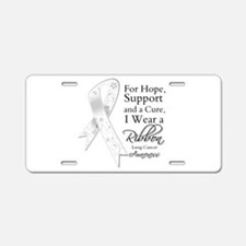 Lung Cancer Ribbon Aluminum License Plate