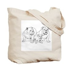 Bulldog Lover Family Logo Blk/Tote Bag