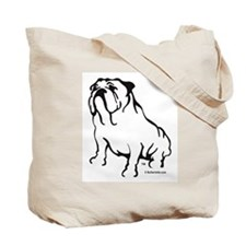 Bulldog Lover Logo Blk/Tote Bag