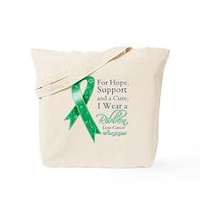 Liver Cancer Ribbon Tote Bag
