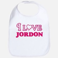 I Love Jordon Baby Bib