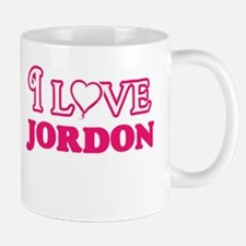 I Love Jordon Mugs