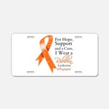 Leukemia Hope Ribbon Aluminum License Plate