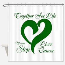 Stop Liver Cancer Shower Curtain