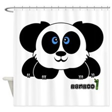 Bamboo Pudgie Pet Shower Curtain