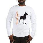 Grunge Great Dane Silhouette Long Sleeve T-Shirt