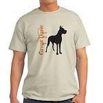 Grunge Great Dane Silhouette Light T-Shirt