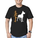 Grunge Great Dane Silhouette Men's Fitted T-Shirt