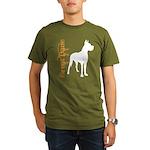 Grunge Great Dane Silhouette Organic Men's T-Shirt