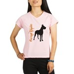 Grunge Great Dane Silhouette Performance Dry T-Shi