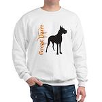 Grunge Great Dane Silhouette Sweatshirt