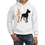 Grunge Great Dane Silhouette Hooded Sweatshirt