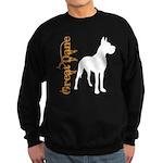 Grunge Great Dane Silhouette Sweatshirt (dark)