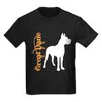 Grunge Great Dane Silhouette Kids Dark T-Shirt