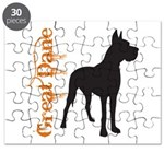 Grunge Great Dane Silhouette Puzzle