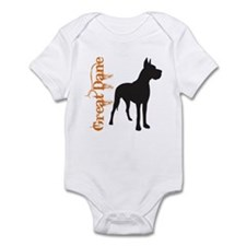 Grunge Great Dane Silhouette Infant Bodysuit