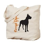 Grunge Great Dane Silhouette Tote Bag