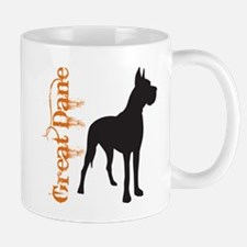 Grunge Great Dane Silhouette Mug